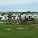 The chalets and kids play area