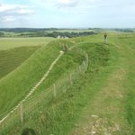 On the top of Maiden Castle