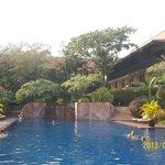 The lovely salt pool. It helps the sunburn!!