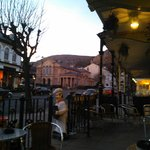 Front of Pub with beautiful view