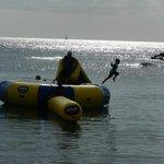 fun water trampoline