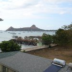 view of pigeon island from our blacony.