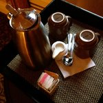 Complimentry coffee brought to our room :)