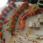 From left - Volcano, J Fuji, Rainbow, Spicy Tuna