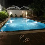 we had the pool by ourselves. thanks for the staff for making us use it till 2am.