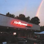 rainbow over the diner!