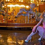 carousel in heels instead of ballet point shoes, once pointe shoes were drenched beyond hope :)