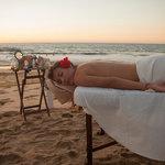 open-air massage at the beach