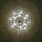 This is the beautiful chandelier in the villa living room.