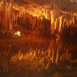 Caverns overlooking lake -see the reflections of the columns