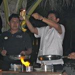 Jose making us tableside flambee dessert