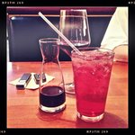 Red wine and unlimited refill Cranberry Cooler