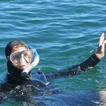 One of 4 very happy snorkelers (my 2nd but only successful attempt)