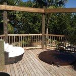 Private deck!