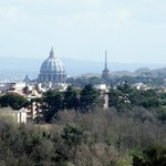 La cupola di San Pietro dalla camera
