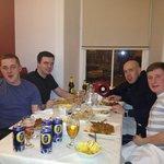 Regular customers enjoying a meal at Mivesi