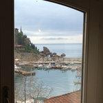 Utsikt fra frokostsalen på hotellet