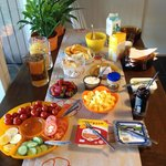 Breakfast at Birta Guesthouse
