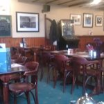 the bar area at the New Inn
