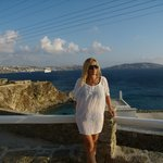 Amazing view from the pool area! Mykonos Town, Delos & Tinos islands ....