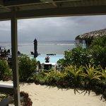 View front beach front villa
