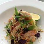 Prawn, calamari, green papaya & lime salad