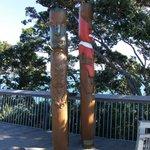 Totem poles at Achilles Point