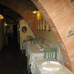 Breakfast area in 13th century B&B