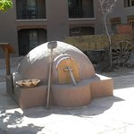 Clay Oven - Bread Baking inside !
