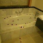 Drawn bath by our butler