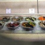 Ingredients at La Ribera wok station