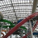 Full skylights in waterpark