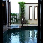 Pool view from the bed