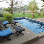 """Our private """"back yard"""" with the Pool Room"""