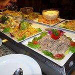 Comida Buffet en el restaurant internacional