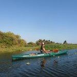 Kayaking on the nearby Laguna de Manialtepec.