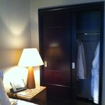 Nice sized closet with robes