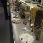 part of the buffet counters