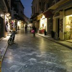 beautiful Plaka street at night