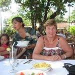Dining outside at Kumala Pantai