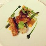 volatile, foie gras e verdure