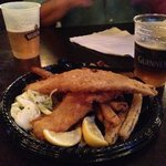 fish and chips with my Guinness!