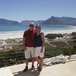 On the terrace, Chapman's Peak and Hout Bay in background