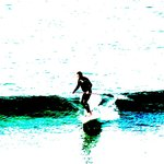 Early morning surfer, Porthmeor Beach
