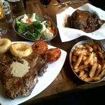 20 oz T-Bone Steak + Slowly Braised Lamb Joint