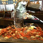 Ice Sculpture w Crab Legs @ River Spirit Buffet
