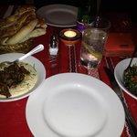 Lamb and hummus and tabbouleh