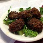 Falafel Appetizer minus Tzatziki sauce