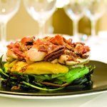 Pecks warm chicken and bacon salad, a lunchtime favourite.