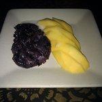 Dessert Sweet Black Sticky Rice with Mango